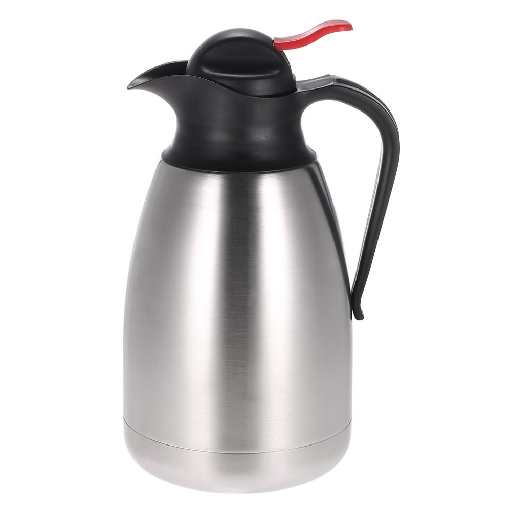 QIN.J.FANG Vacuum Insulated Coffee Pot Eagle Mouth Stainless Steel Double Wall Drinkware Unbreakable Large Capacity Water Pitcher Thermal Carafe,2L