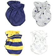 Gerber Baby-Boys Mittens, Sports, 0-3 Months (Pack of 4)
