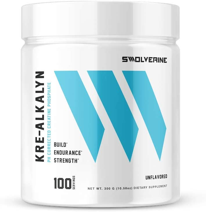 Kre-Alkalyn pH Correct Creatine Monohydrate, Build Strength, Gain Muscle, Power Performance, Enhance Endurance, Unflavored, 100 Servings