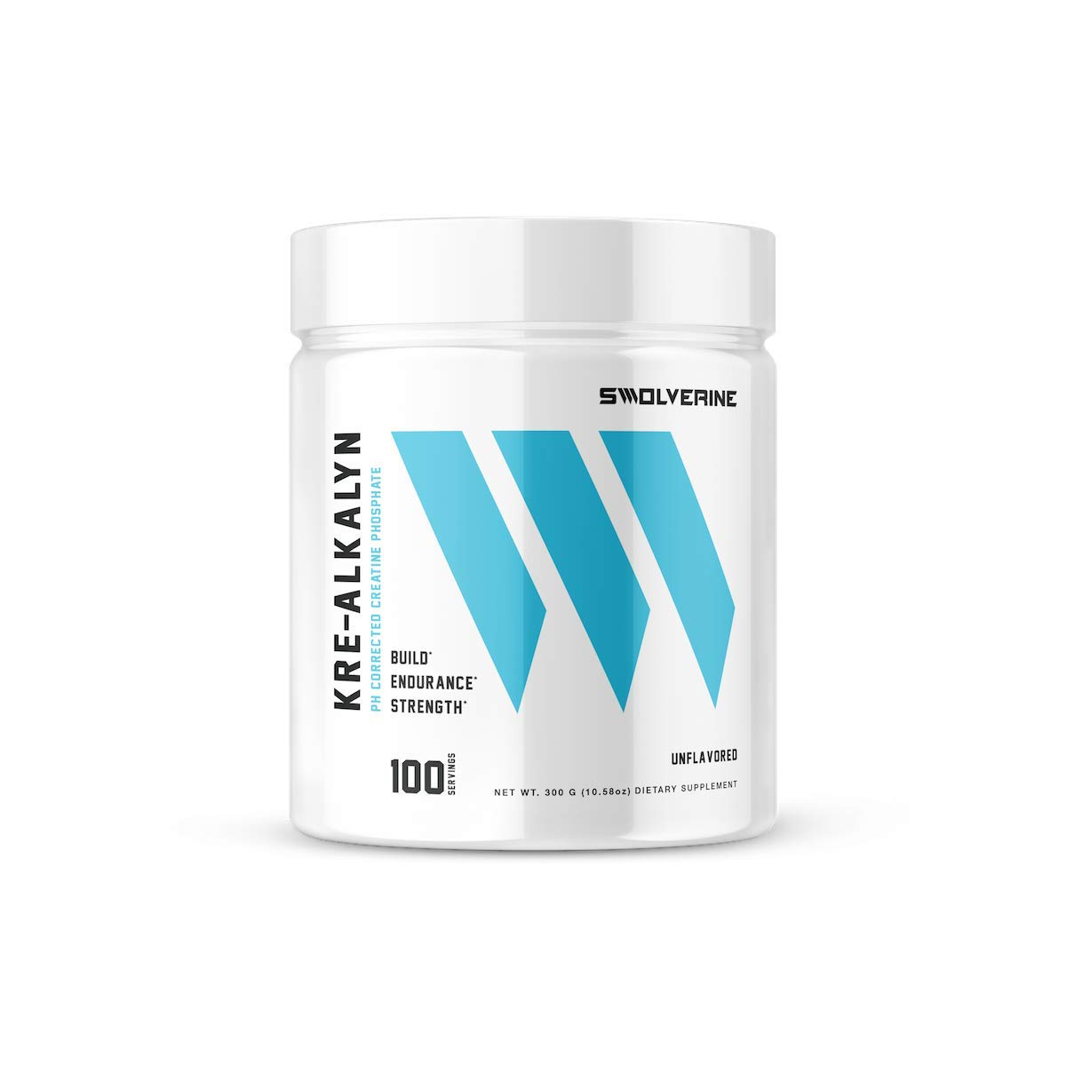 Kre-Alkalyn | pH Correct Creatine Monohydrate, Build Strength, Gain Muscle, Power Performance, Enhance Endurance, Unflavored, (100 Servings) by Swolverine