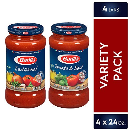 Barilla Pasta Sauce Variety Pack, 24 Ounce, 4 Jars (Best Store Bought Marinara Sauce)
