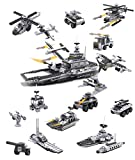 7TECH 8-in-1 Aircraft Carrier Educational Toys Building Blocks Construction Set