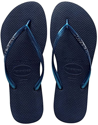 Havaianas Slim, Chanclas Mujer Azul (Navy Blue 0555)