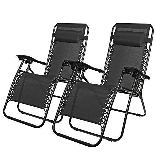 Sedie A Sdraio Ikea.Guoyajf Sedia Zero Gravity Patio Lounge Chair Con Cuscino Patio
