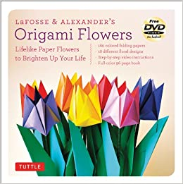 Amazon lafosse alexanders origami flowers kit lifelike amazon lafosse alexanders origami flowers kit lifelike paper flowers to brighten up your life kit with origami book 180 high quality origami mightylinksfo
