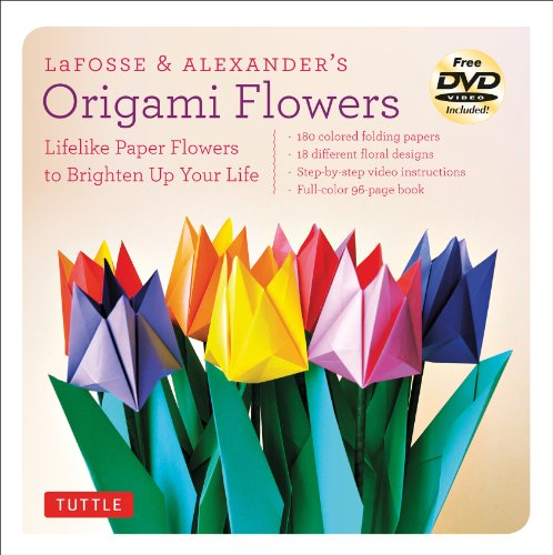 LaFosse & Alexander's Origami Flowers Kit: Lifelike Paper Flowers to Brighten Up Your Life: Kit with Origami Book, 180 High-Quality Origami Papers, 20 Projects & (Alexander Sheet Set)