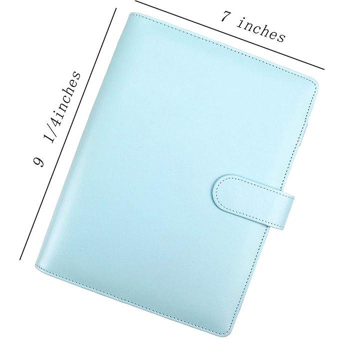 Amazon.com: Cuaderno A5 de piel sintética, rellenable con 6 ...