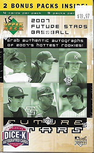 2007 Upper Deck Future Stars Baseball Blaster Box Of 9 Packs 4 Cards Per Pack -
