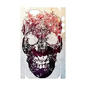 C-Y-F-CASE DIY Flower Skull Pattern Phone Case for iPhone 5,5S