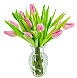 #2: KaBloom Valentine's Day Special: 10 Pink Tulips Fresh from Holland with Vase