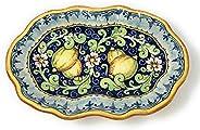 CERAMICHE D'ARTE PARRINI - Italian Ceramic Art Pottery Serving Bowl Centerpieces Tray Plate Hand Painted D