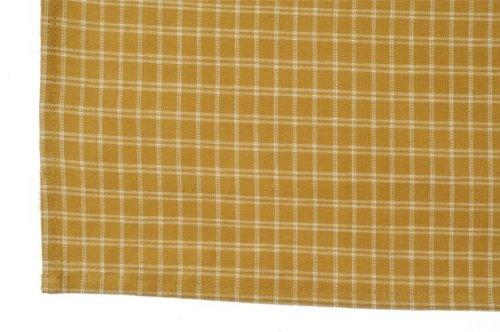 Dunroven K372-PMK HS Windowpane Tea Towel - Pumpkin- Pack of 6