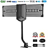 Outdoor Antenna, AKARY TV Antenna 150 Miles Omni-directional Reception Outdoor/Attic/Roof Digital HDTV Antenna with Amplifier and Mounting Pole Support UHF/VHF/FM Signal with 33FT Coaxial Cable