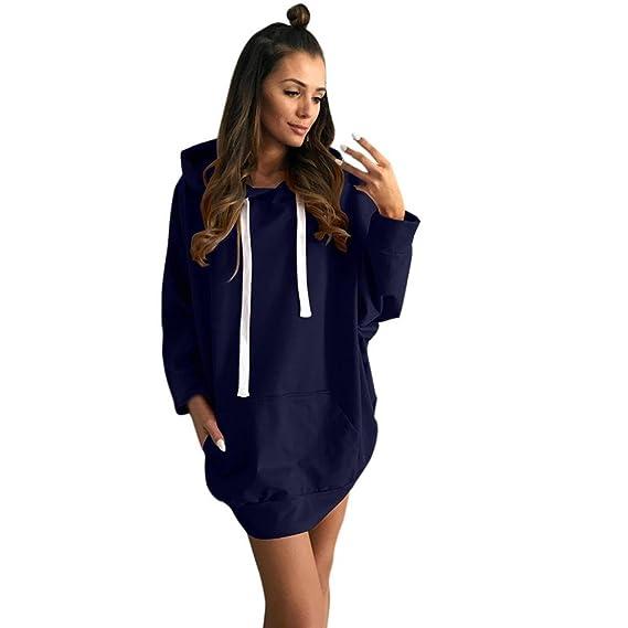 Kleid damen Kolylong® Frauen Elegant Pullover Kleid mit kapuze ...