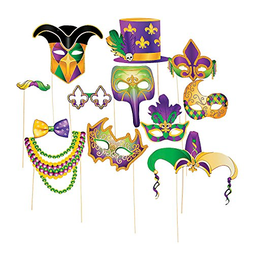 Wish Novelty- Handheld Photo Booth Costume Prop Great For Mardi Gras Events, and Parties, for Kids and Adults Alike.