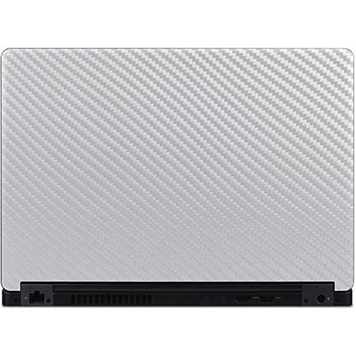 Skinit White Carbon Fiber Latitude 5490 Skin - Officially Licensed Originally Designed Laptop Decal - Ultra Thin, Lightweight Vinyl Decal Protection