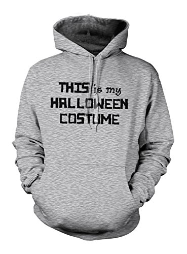 This Is My Halloween Costume Hoodie Sweatshirt Grey X-Large ()