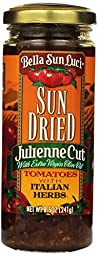 Bella Sun Luci Sun Dried Julienne Cut Tomatoes, with Extra Virgin Olive Oil and Italian Herbs, Net Wt. 8.5 Oz.