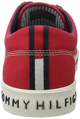 Tommy Hilfiger Herren Y2285armouth 1d Low-Top Rot (Tango Red 611)