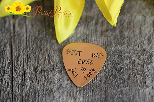 Customized Guitar Pick - Best Dad Ever Guitar Pick - Father's Day Gift - Engraved for Dad - Hand Stamped Guitar Pick - Birthday Gift for Dad - Handstamped Handmade with Customized Name