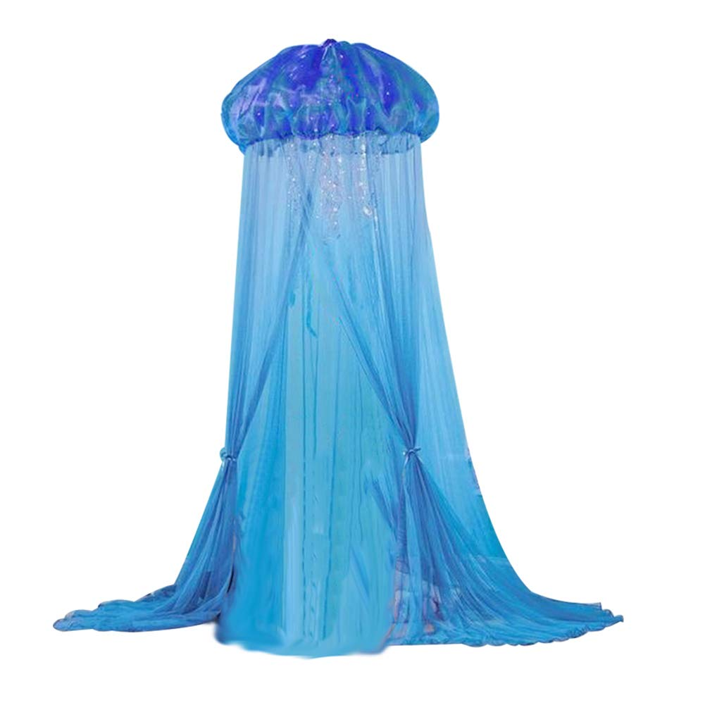 POEwjCCk Kids Baby Princess Bed Canopy Jellyfish Shape Mosquito Net Passed CE Certification. Blue by POEwjCCk