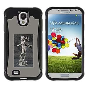 Suave TPU GEL Carcasa Funda Silicona Blando Estuche Caso de protección (para) Samsung Galaxy S4 IV I9500 / CECELL Phone case / / sexy stature marble poster girl woman /