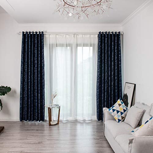 Kuerqi Leaves Curtain Tulle Window Treatment Voile Drape Valance 1 Panel Fabric Good Gifts for Your Parents, Friends and Colleagues Smooth, Soft And Comfortable, Suitable for Home