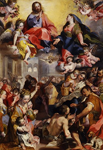 Federico Barocci - Madonna of the People, Size 24x36 inch, Poster art print wall décor