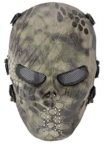 OUTGEEK Tactical Airsoft Mesh Mask Protective Full Face Costume (Mandrake Halloween Costume)