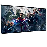 Projection Screen, Outdoor Movie Screen, Home Theater Screen, 120'' 16:9, Portable Folding Project Screen, Build A Family Cinema for Family and Children Any Time and Any Where,Shadow Fiend