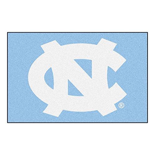 (FANMATS NCAA UNC University of North Carolina - Chapel Hill Tar Heels Nylon Face Starter Rug)