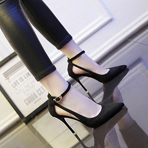 Chaussures Avec Mot Des Talons Aiguilles Un Unie Couleur Shoeshaoge D'automne Fines D'été nWAZIqcc18