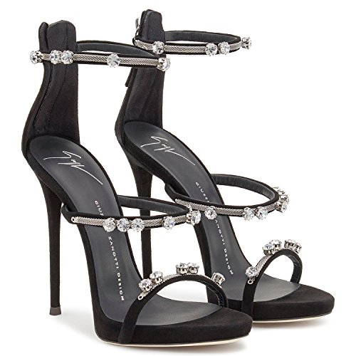 Women's Black Giuseppe Zanotti I60137001 Design Sandals Leather EITwqUfHw