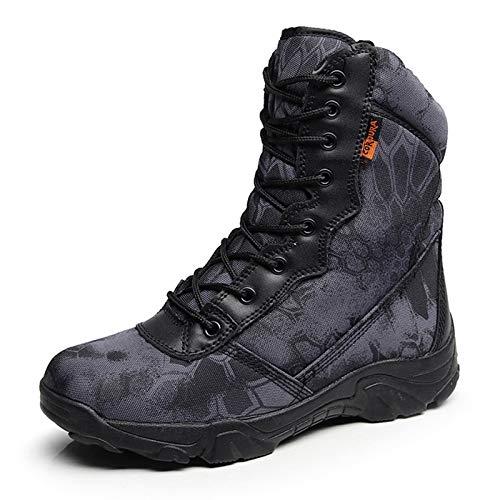 HCBYJ Schuhe Herbst und Winter im Freien Spezialeinheiten Militärstiefel Männer Wandern Wüste Stiefel Wasserdichte Taktische Stiefel hoch, um Ultraleicht zu helfen