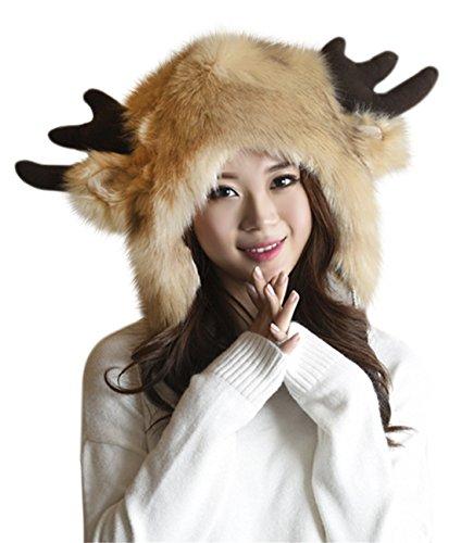 MioCloth Cute Warm Plush Fluffy Faux Fur Hood