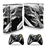 MightySkins Protective Vinyl Skin Decal Cover for Microsoft Xbox 360 S Slim + 2 Controller skins wrap sticker skins Snake Bite Review