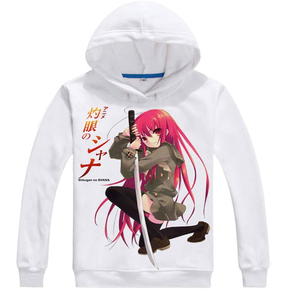 Cosstars Anime Shakugan No Shana Hoodie Sudaderas con Capucha Cosplay Disfraz Pulóver Sweatshirt Outwear Top Abrigo: Amazon.es: Ropa y accesorios