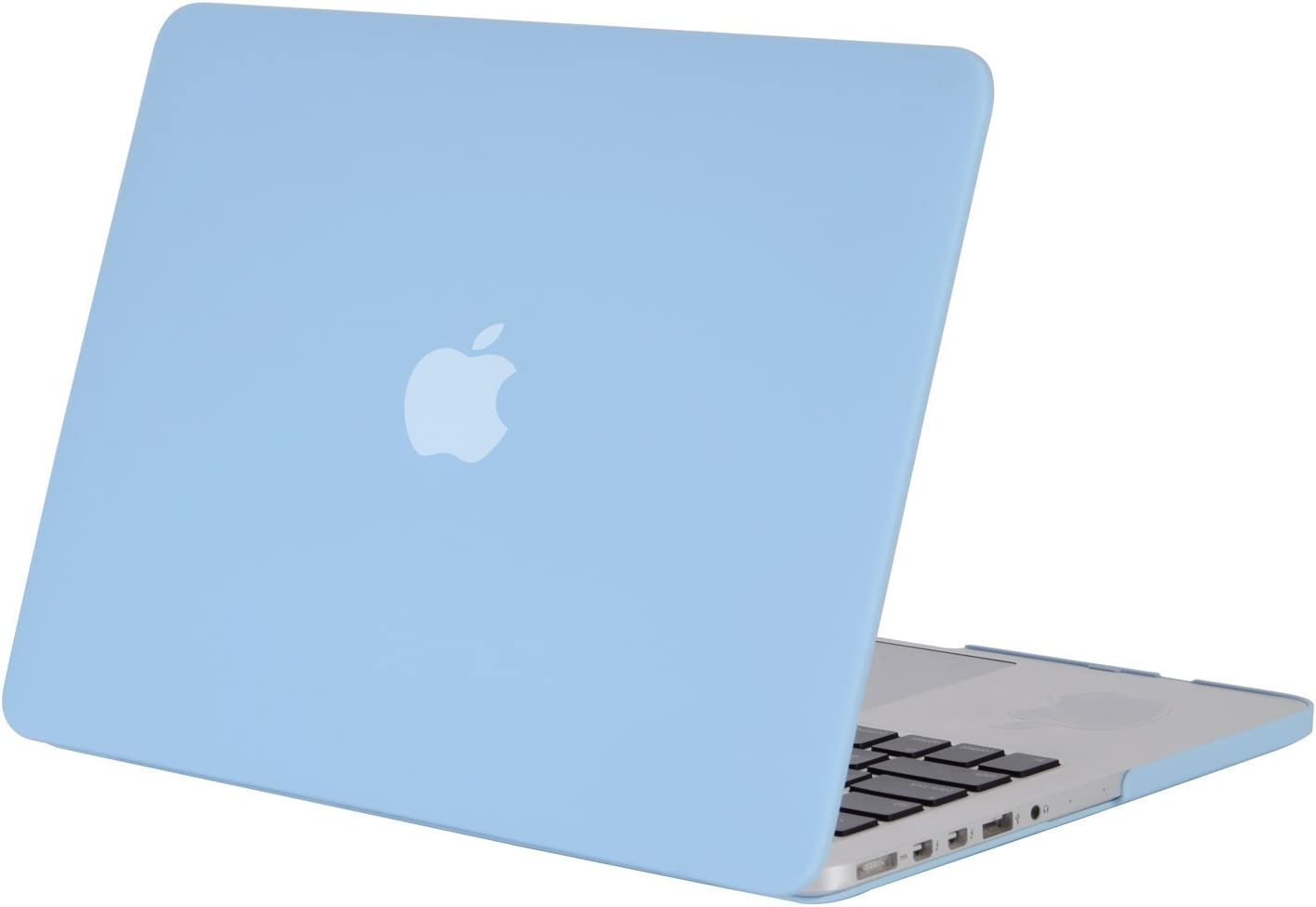 MOSISO Plastic Hard Shell Case Cover Only Compatible with Older Version MacBook Pro Retina 13 Inch (Models: A1502 & A1425) (Release 2015 - end 2012), Airy Blue