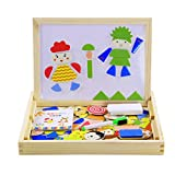 Children Educational Toy,Besde Wood Magnetic Puzzle Child Educational Wooden Toys (A, A)