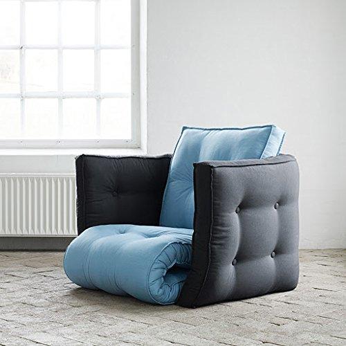 Futon Dice - Rhone - Muebles con función de dormir Dormir Ideal Sillón como invitados cama: Amazon.es: Hogar