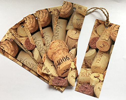 Wine Bottle Gift Tags (Wine Bottle Gift Tags, Set/20 Large Tags, Wine Corks)