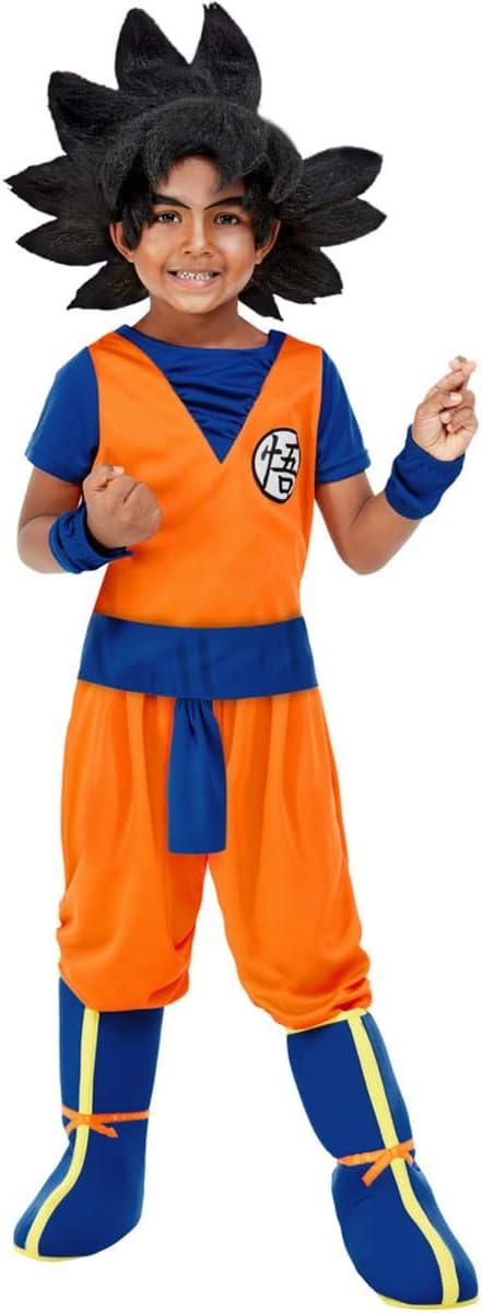 Funidelia | Disfraz de Goku - Dragon Ball Oficial para niño Talla 5-6 años ▶ Son Goku, Bola de Dragón, Anime, Saiyan - Naranja