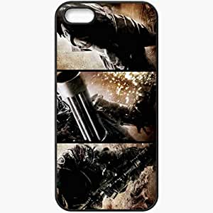 Personalized iPhone 5 5S Cell phone Case/Cover Skin Terminator 4 Terminator Salvation Terminator Christian Bale Sam Worthington actor Movies Black