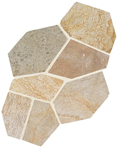 Daltile 12 in. x 24 in. Golden Sun Slate Flagstone Floor and Wall Tile -  S783PATTNFLAG1P