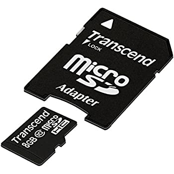 Transcend 8 GB Class 10 microSDHC Flash Memory Card TS8GUSDHC10