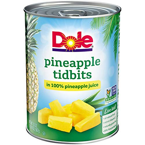 - DOLE Pineapple Tidbits in 100% Pineapple Juice 20 oz. Can
