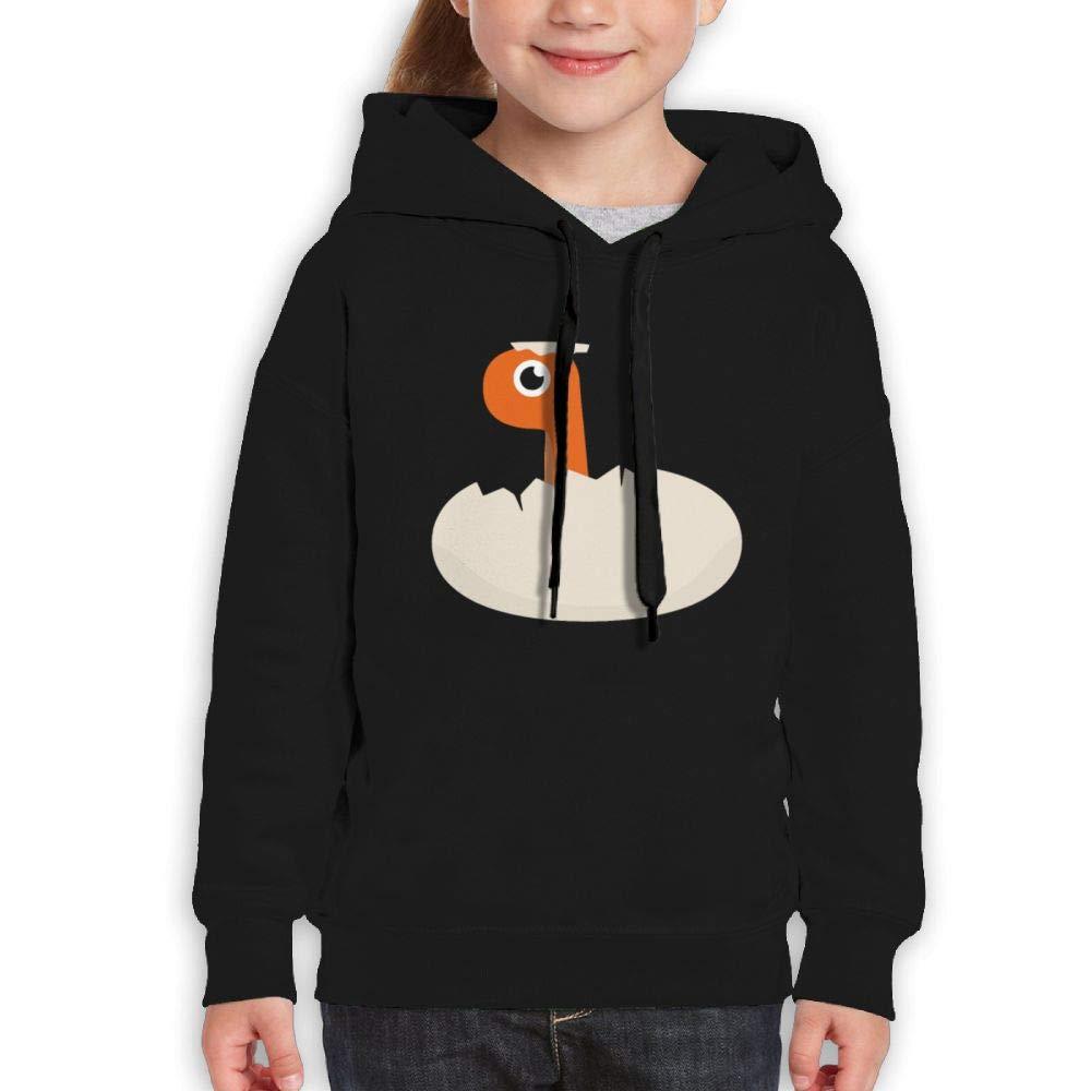 Qiop Nee Cute Dinosaur Egg Childrens Hoodie Print Long Sleeve Sweatshirts for Girls'