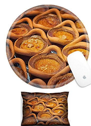 Luxlady Mouse Wrist Rest and Round Mousepad Set, 2pc IMAGE: 33876069 Thai dessert in clay pots Mung Bean Thai Custard ()