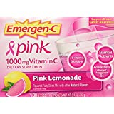 Emergen-C Health and Energy Booster Pink Lemonade - 30 Packets, 9.9 OZ (282g)