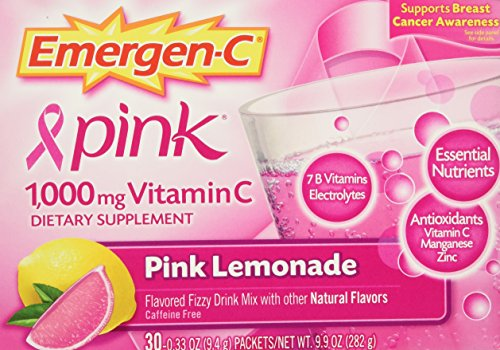Emergen-C Health and Energy Booster Pink Lemonade - 30 Packe